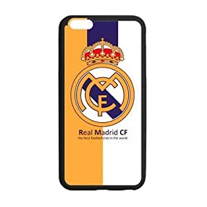 Onshop Custom Football Team Real Madrid Logo Phone Case Laser Technology for iPhone 6 Plus