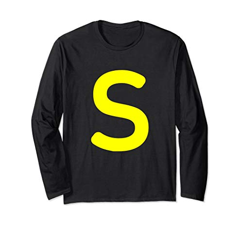 (Chipmunk Halloween costume shirt for Alvins, Letter S)