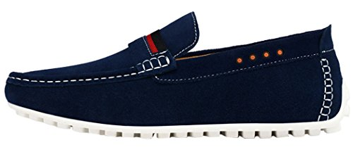 Guciheaven Mens 2015 New British Style Low Top Suede Casual Leather Flats Moccasin Shoes(10 D(M)US, Blue)