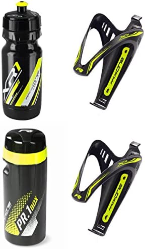 RaceOne.it - KIT Fluo Race - 4 PCS - Bidón de ciclismo + 2 ...