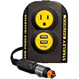 STANLEY FATMAX PCI140 140W Power Inverter: 12V DC to 120V AC Power Outlet with Dual USB Ports