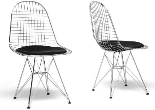 Baxton Studio Avery Mid-Century Modern Wire Chair