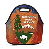 Dozili Great Smoky Mountains National Park Large & Thick Neoprene Lunch Bags Insulated
