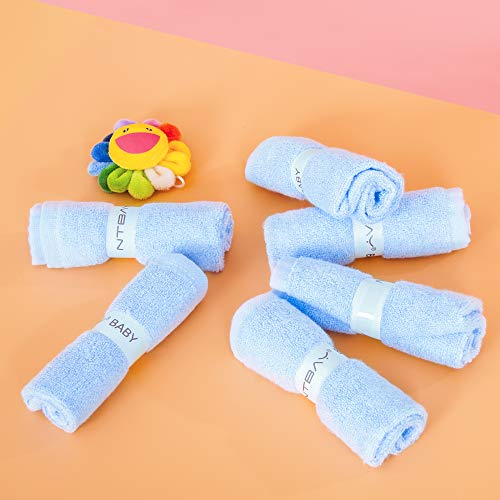 NTBAY 6 Pack Baby Washcloths, Extra Soft Newborn Baby Face Towel Perfect Gifts Set, 10 x 10 Inches, Blue