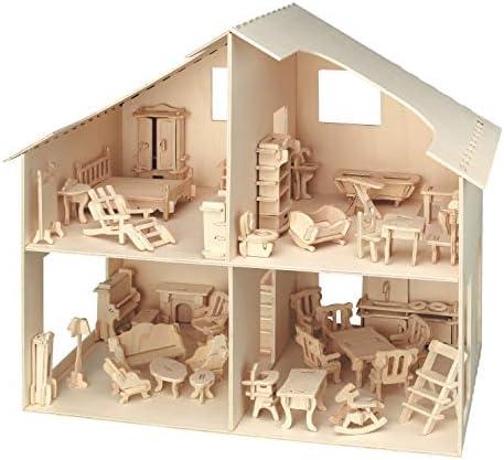 Amazon.es: Pebaro 880 - Casa de muñecas con Muebles: Juguetes y juegos