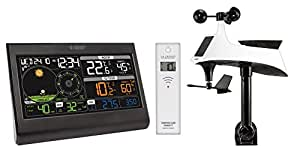 La Crosse Technology WS6868BLA-SIL - Estación meteorológica semiprofesional, con pantalla a color, 19,3x2,2x13,3cm, color negro