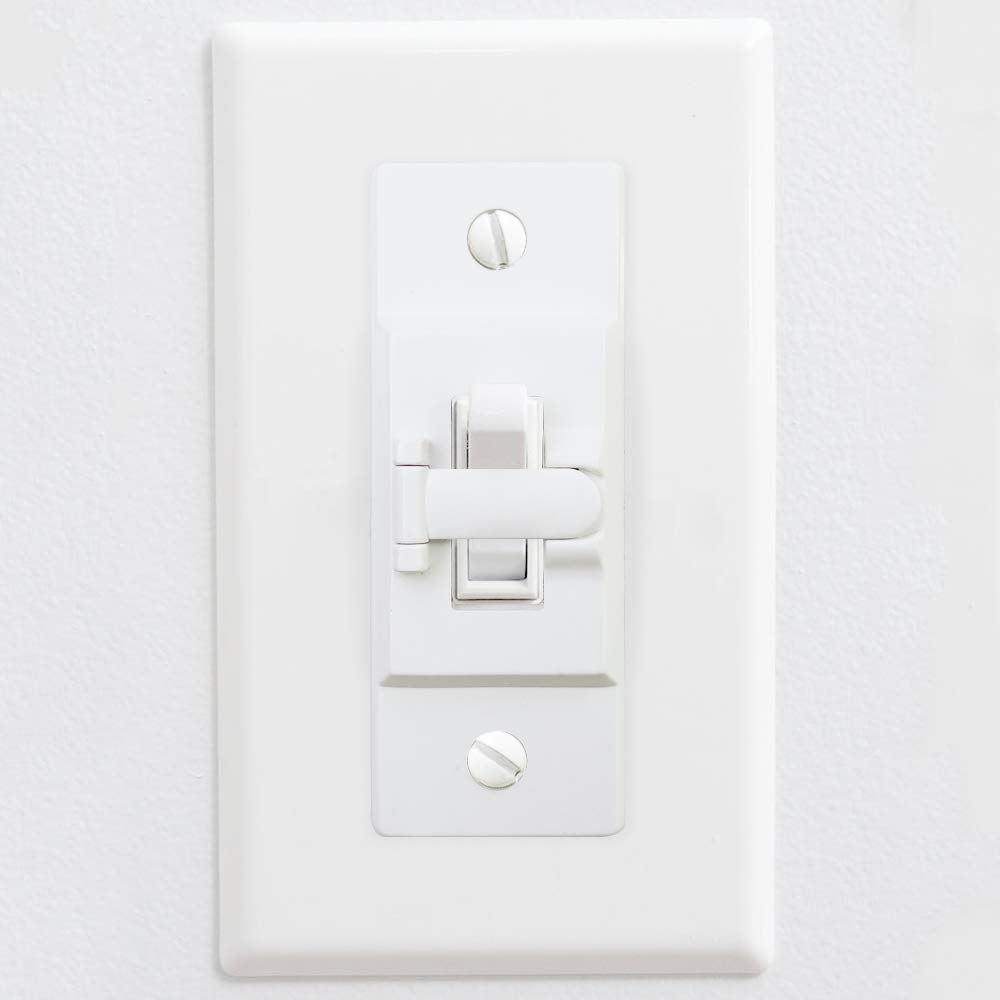 2 Pack Light Switch Guard ILIVABLE Optional Wall Plate Cover Switch ON or Off Protects Your Lights or Circuits from being Accidentally Turned On or Off by Children and Adults