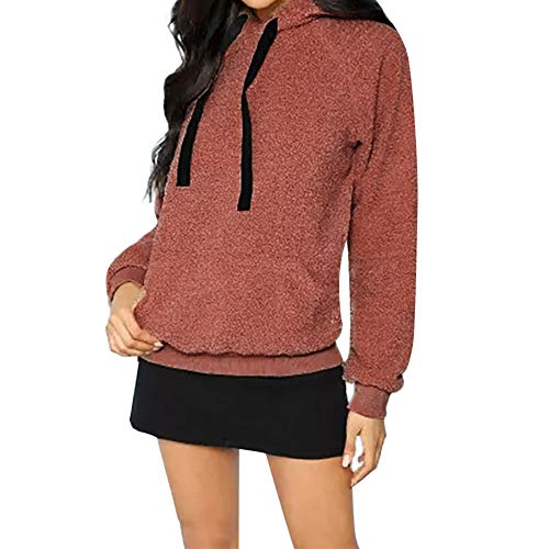 (Clearance Sale for Women Coat.AIMTOPPY Women's Hooded Plush Pocket Sweater)