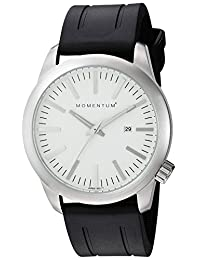 Momentum Men's 1M-SP10W1B Analog Display Japanese Quartz Black Watch