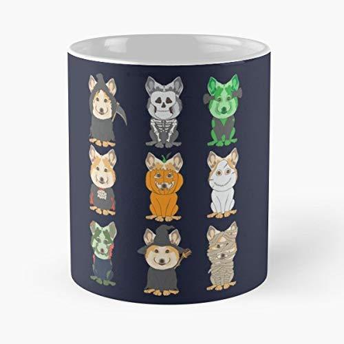 Dwarf Dog Weish Cattle Herding Heelers Dogs Ceramic Coffee Mugs, Funny Gift -