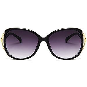 Hukai New Fashion Fox's head Sunglasses Large Frame sunglasses Goggles Outdoor Glasses (B)