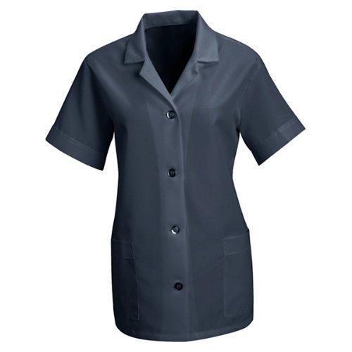 Housekeeping Smock (Red Kap Women's Button Front Tunic, Navy, Large)