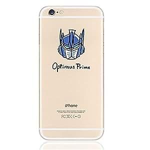 BlueKid Transformadores de ultra delgado diseño creativo transparente TPU suave del carro funda (iPhone 6S Plus iPhone 6S iPhone 6 Plus iPhone 6 iPhone 5C iPhone 5/5S iPhone 4/4S )(iPhone 6S Plus/5.5,Azul)