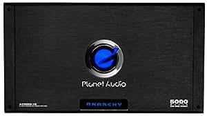 Planet Audio AC5000.1D Anarchy 5000 Watt, 1 Ohm Stable Class D Monoblock Car Amplifier with Remote Subwoofer Control