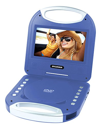 Sylvania SDVD7049 7-Inch Portable DVD Player with Handle, Blue