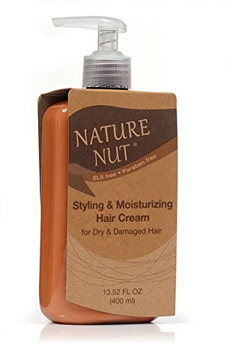 Hair Mask Brazil Nut (Styling Hair Cream by Nature Nut | 13.52 oz | Curly Hair and Control Hair Volume- Rich in Shea Butter and Natural Oils from Macadamia, Argan, Coconut And Brazil Nuts- Paraben & SLS Free.)