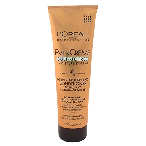 L'Oreal Paris EverCreme Sulfate-Free Moisture System Nourishing Conditioner, 8.5 Fluid Ounce