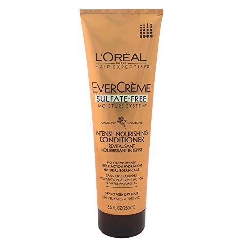 LOreal Paris EverCreme Sulfate-Free Moisture System Nourishing Conditioner, 8.5 Fluid Ounce