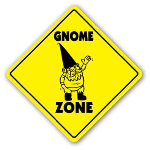 Gnomes Sticker - Gnome Zone [3 Pack] of Vinyl Decal Stickers | 4