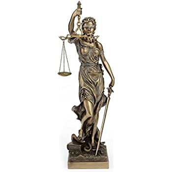 Amazon.com  Large Bronze Finish Lady Justice 18 Inch Statue ... f84c669bf4