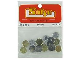 Bulk Buys CN449-48 10 Piece 10mm Rhinestones - Pack of 48
