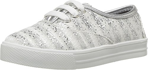 Kid Express Baby Girl's Giovanna (Toddler/Little Kid/Big Kid) Silver Combo (Express Kids Shoes)