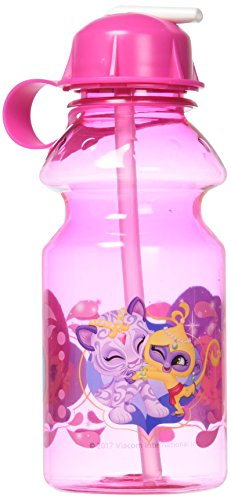 Shine Water - Zak Designs Shimmer Shine 14oz Kids Water Bottle with Straw - BPA Free with Easy Clean Design, Shimmer-Shine