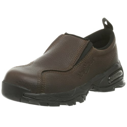 Nautilus 1621 Women's ESD No Exposed Metal Safety Toe Slip-On,Brown,8 M