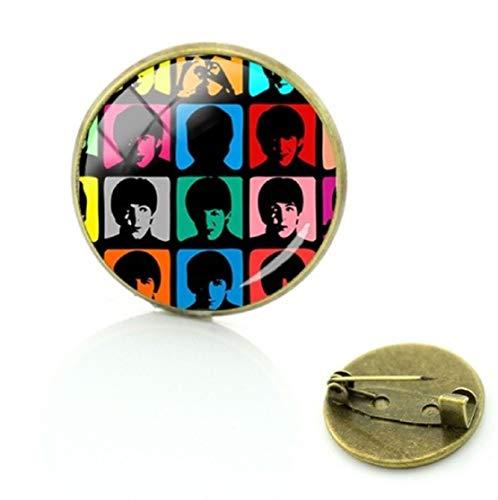FTH The Beatles Hard Days Night Pin John Lennon,Paul McCartney,George Harrison, Ringo Star.Nice for Your Denim Jacket or Book Bag