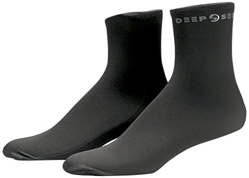 Deep See Elastain Fin Socks, Black (Deep Fins See)