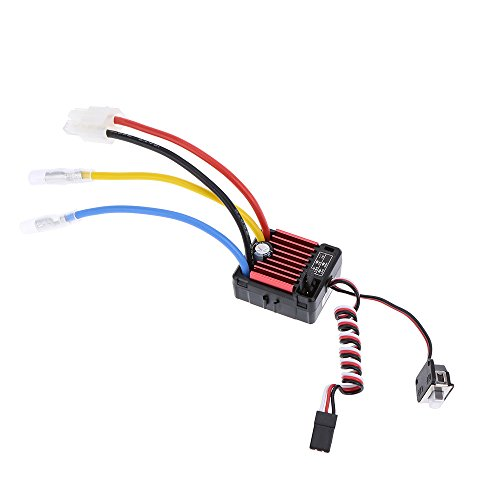 - GoolRC Hobbywing QUICRUN Series 1060 60A Waterproof Brushed Electronic Speed Controller ESC with 5V/2A Linear Mode BEC for 1/10 RC Car