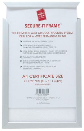 Photo Album Company Secure-it Frame A4 Ref PASFA4B