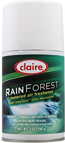 Claire C-114 7 Oz. Rain Forest Metered Air Freshener Aerosol Can (Case of 12) by Claire