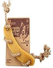 Gigwi Gum Gum Sausage with Hemp Rope Chew Toy,