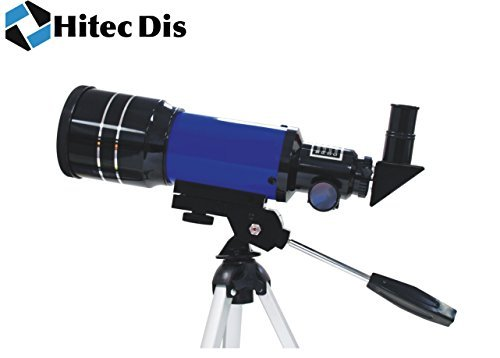 Telescopes for Astronomy Refractor Astronomical Space Telescope for Viewing Stars, Planets, The Moon, Hitec Dis Telescope F300/70 - Blue. Ideal for Kids / Children or Beginners