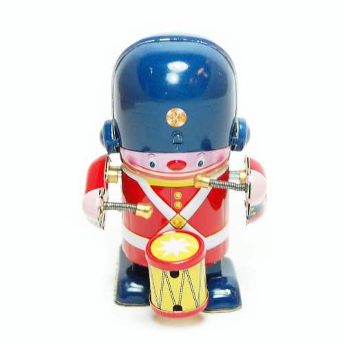 es Drummer, Metal Winds up Toy, Clockwork Tin Toy Collection, 3.3