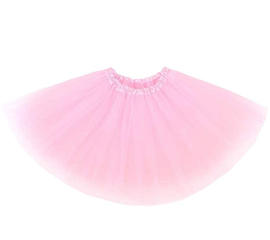 FUNZIE Girls Age 4-12 Layered Solid Color Ballerina Tutu Skirt