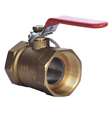 LDR 022 2208 2-Inch IPS Ball Valve, Lead Free Brass