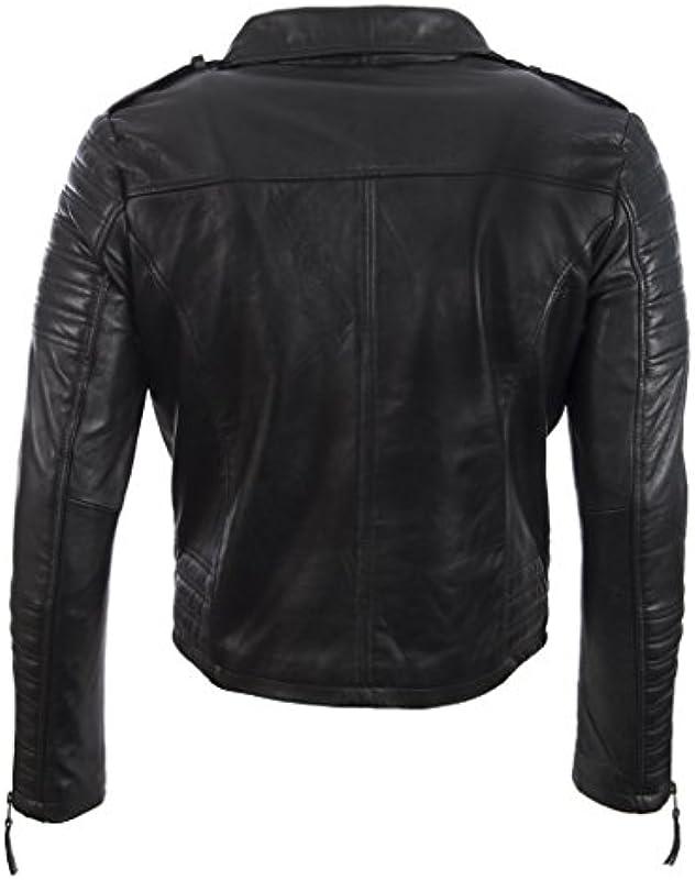 Aviatrix męska kurtka Ultra stylowa wysokiej jakości skÓra naturalna Biker modna kurtka (SDTM): Odzież
