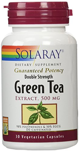 Solaray Green Tea Double Strength Capsule, 500mg, 30 Count
