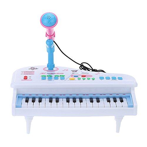Andoer 31 Touches Multifonctionnelles Mini Simulation Jouets Piano avec Clavier Détachable Microphone électrique Electone Cadeau pour Bébés Enfants