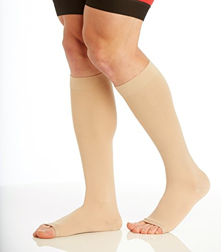 5b0ecf2303d XXX-Large Medical Opaque Compression Socks Plus Size for Women   Men -  Extra Wide