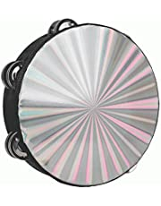 Tambourine for adults 8inch Handheld Drum Bell Metal Jingles Percussion Gift Educational Instrument for Church KTV