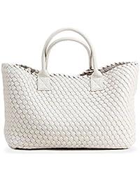 bfbd94db888 Y4 Women s Woven Handbag large-capacity Top Handle Shoulder Tote Shopper Bag