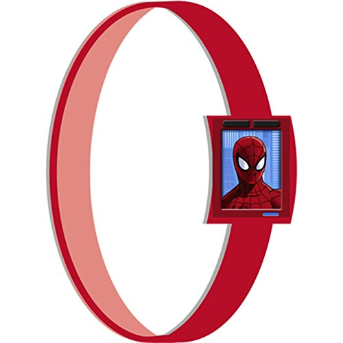 [Marvel's Ultimate Spider-Man Birthday Party Rubber Bracelet Favour, Pack Of 4, Blue/Red , 2.5