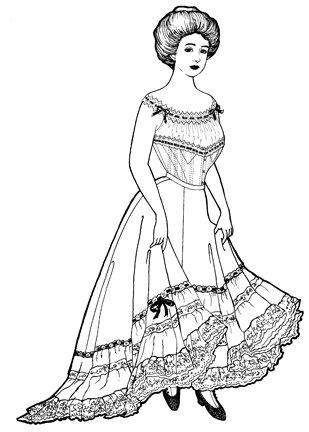 Steampunk Sewing Patterns- Dresses, Coats, Plus Sizes, Men's Patterns Edwardian Petticoat Pattern $14.00 AT vintagedancer.com