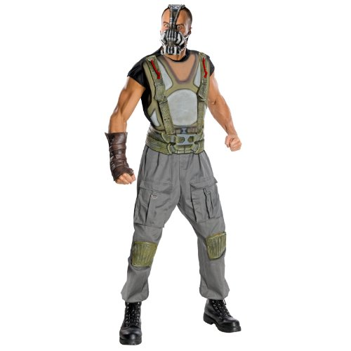 Batman The Dark Knight Rises Adult Deluxe Bane Costume, Multi-Colored, (Deluxe Dark Knight Batman Adult Costumes)