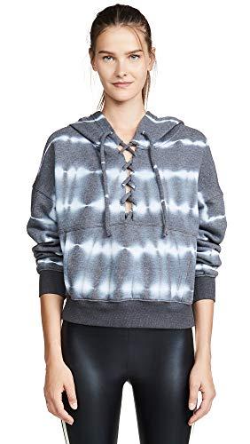 Free People Women's Movement Tie Dye Believer Sweatshirt, Black, ()
