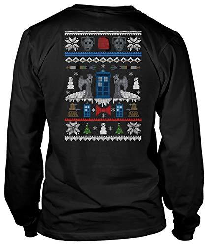 ROEBAGS Tardis Doctor Who T Shirt, Ugly Christmas