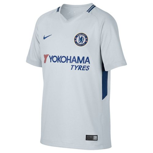 helsea FC Away Stadium Soccer Jersey (Youth Medium) Pure Platinum ()